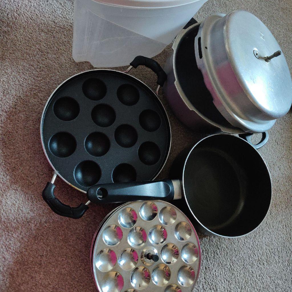 Idly plates kuzhi paniyaram kadai cooker