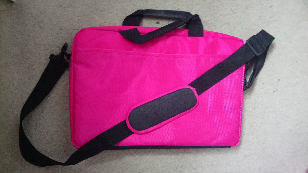 LOGIK Pink Laptop Case with Strap