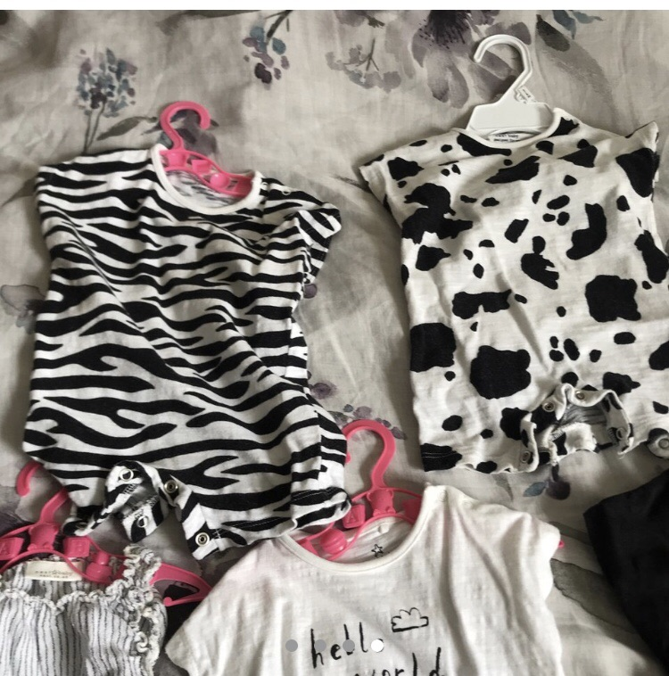 Next baby girl 0-3 romper bundle