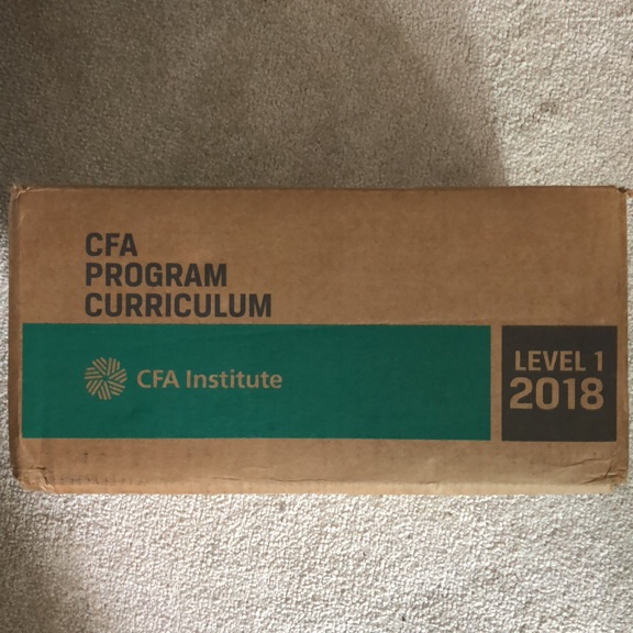 CFA Program Curriculum - Level 1 2018 - Still boxed/unused