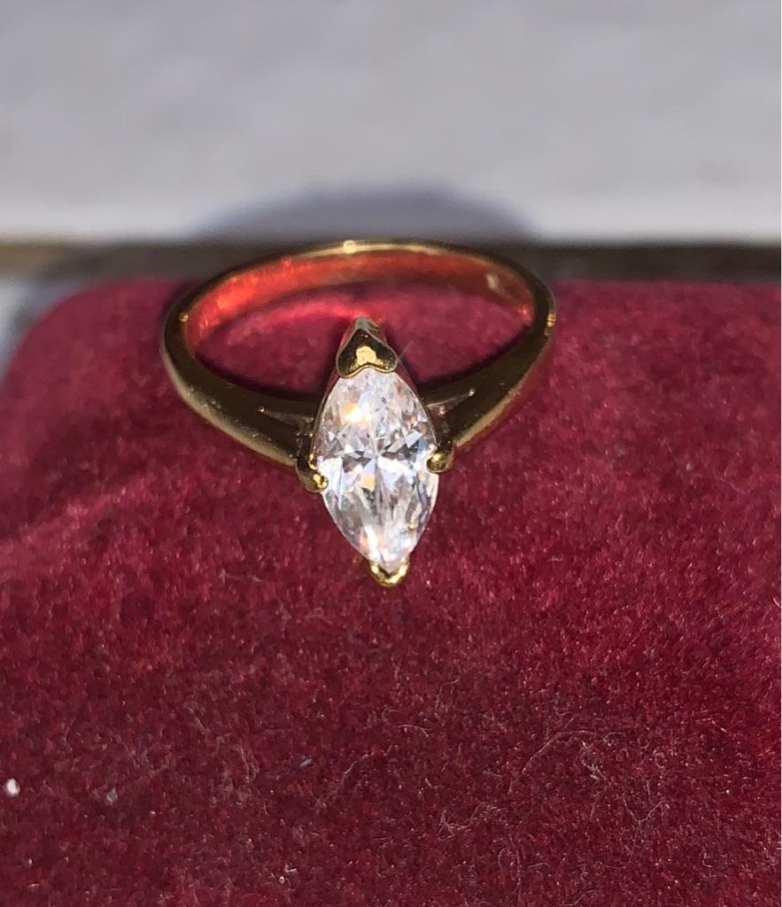 Vintage 2 Carat CZ Ring Size 7
