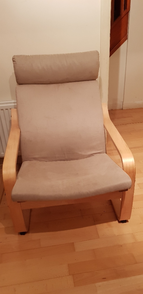 2 x Ikea Poang suede chairs