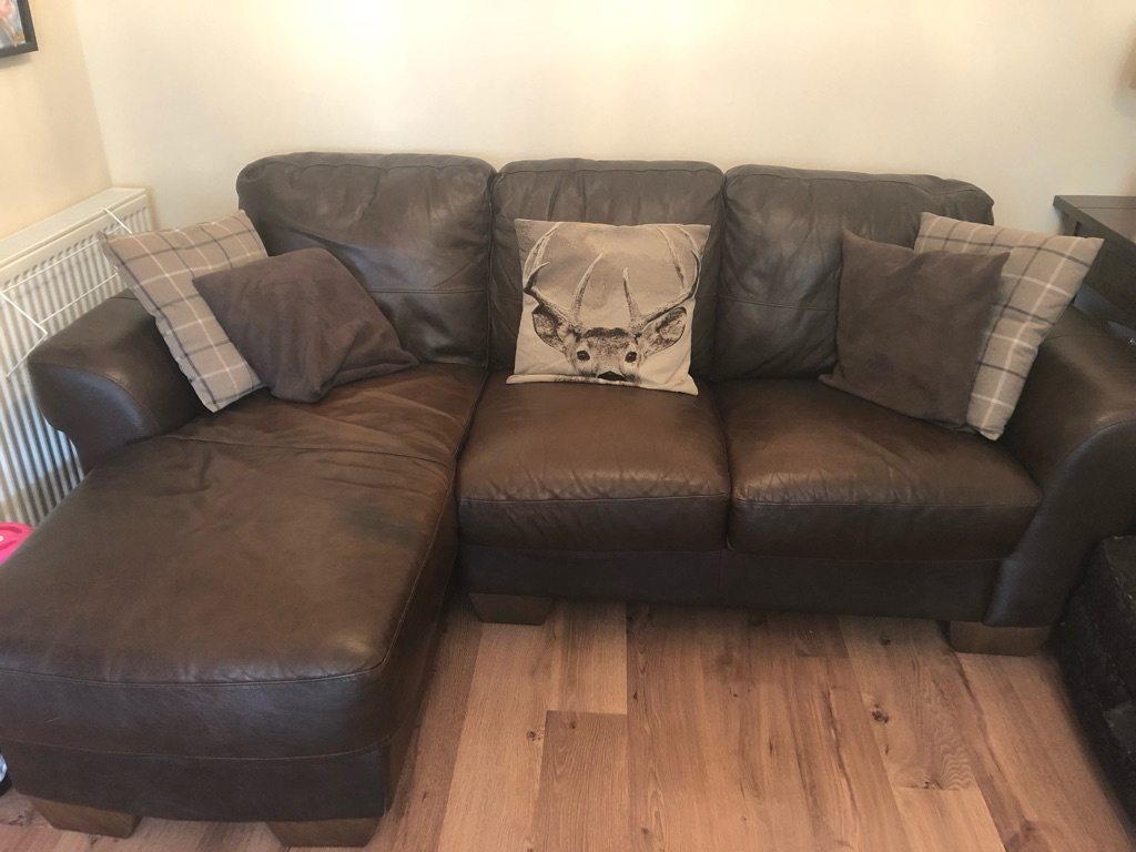 Great condition three seater leather sofa
