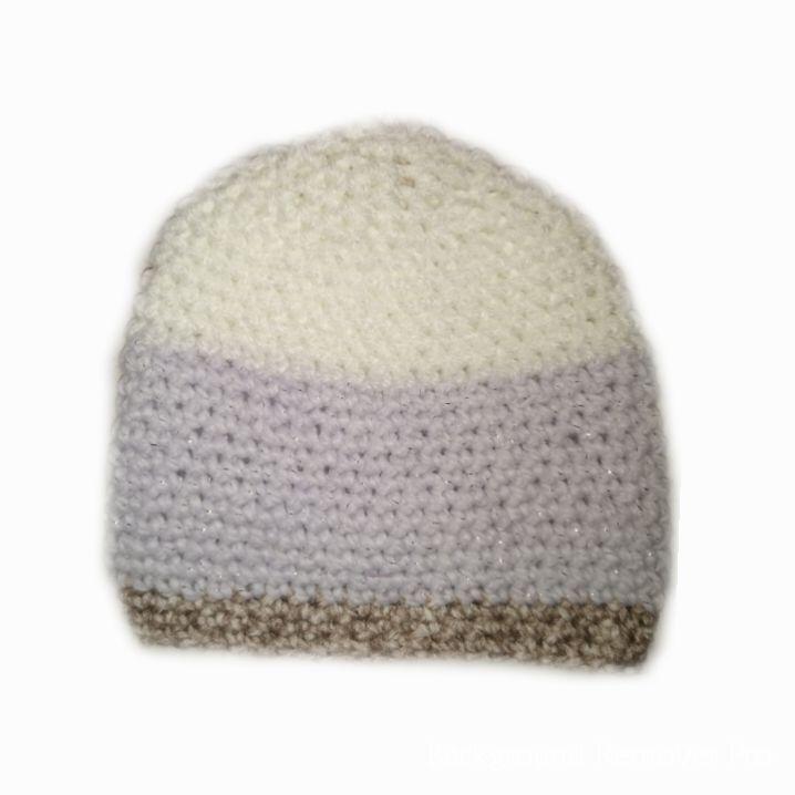 Handknitted baby girl's beanie hat 0-6 months