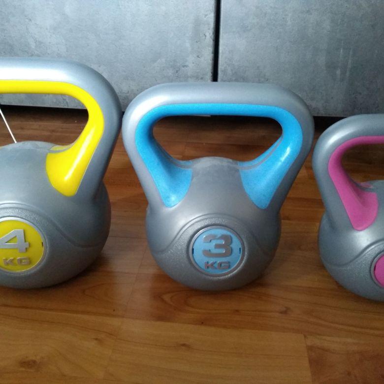 4kg, 3kg, 2kg kettle bells