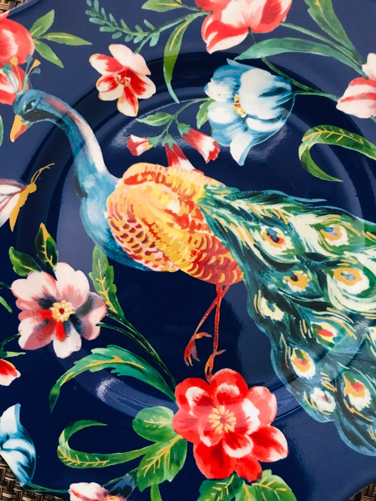 Peacock decorative display plate