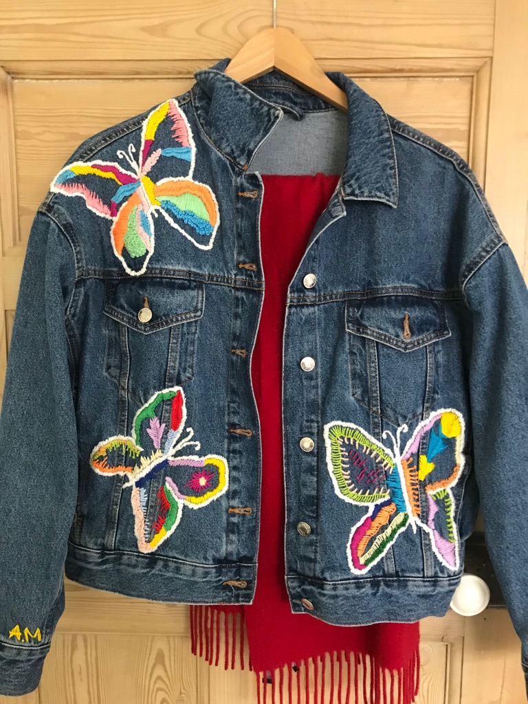 Hand Embroidered Denim Jacket