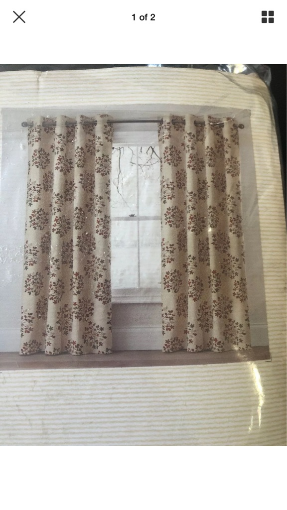 Next Eyelet Curtains 66x90 wise width