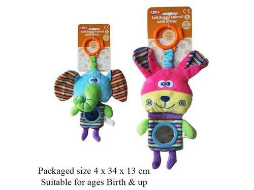 A to Z soft buggy animal with mirror