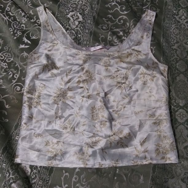 Ladies large silky slip tank top blouse
