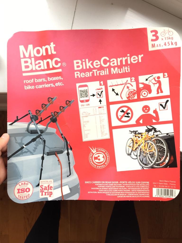 Mont Blanc BikeCarrier the original for 3 bikes