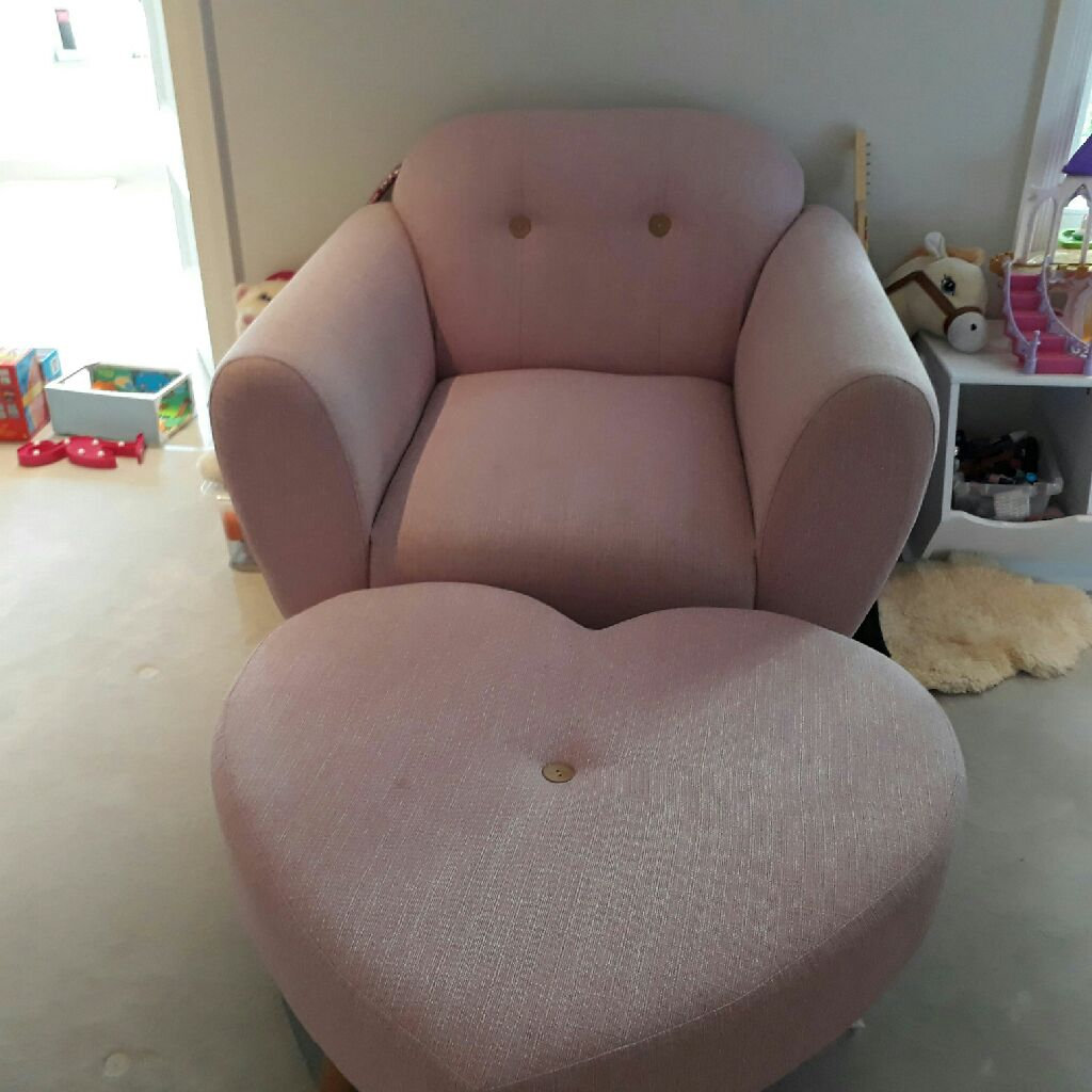 Armchair and foot rest