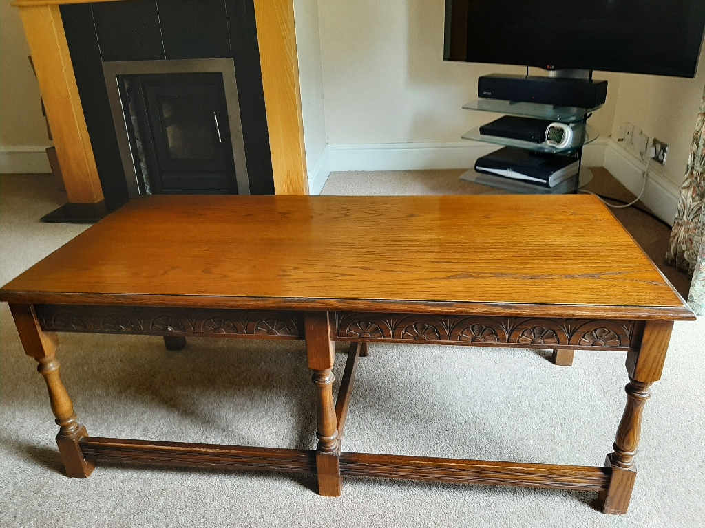 Old Charm Oak Coffee Table - Good Condition