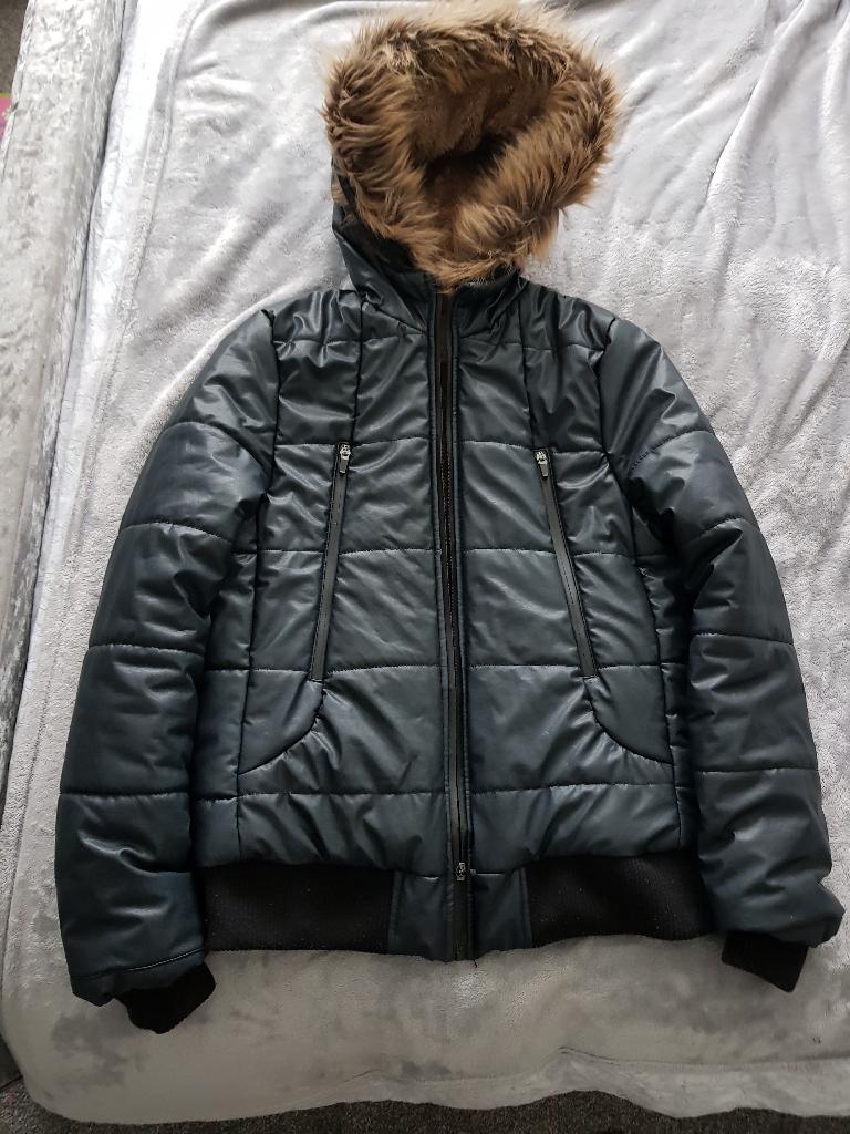 Boys Zara Fur Hooded Jacket Age 13/14