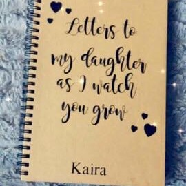 'Letters' personalised notebook