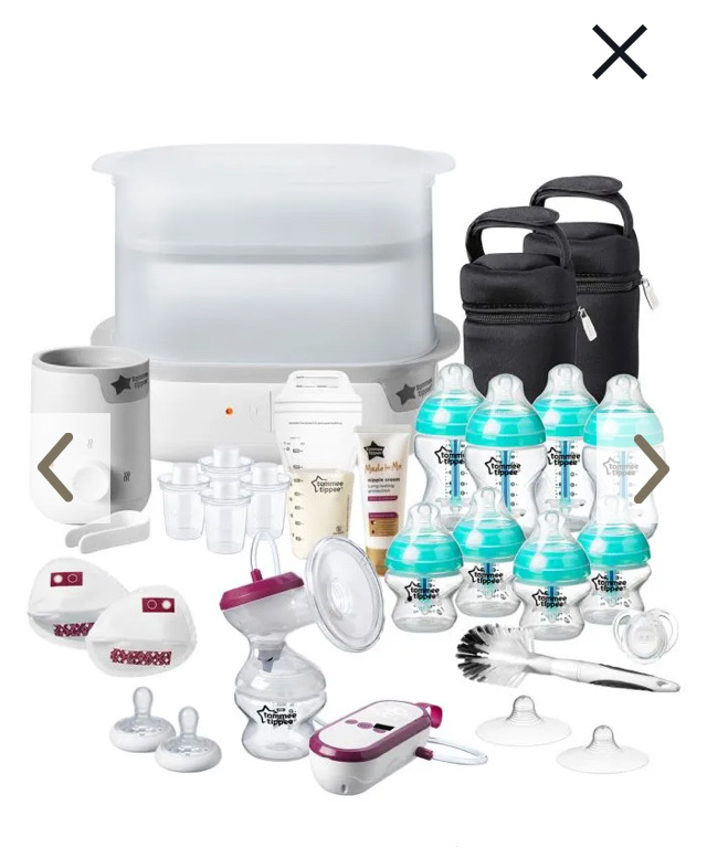 Tommee Tippee closer to nature baby bundle.