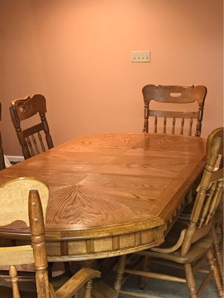 Solid Oak Dinning set