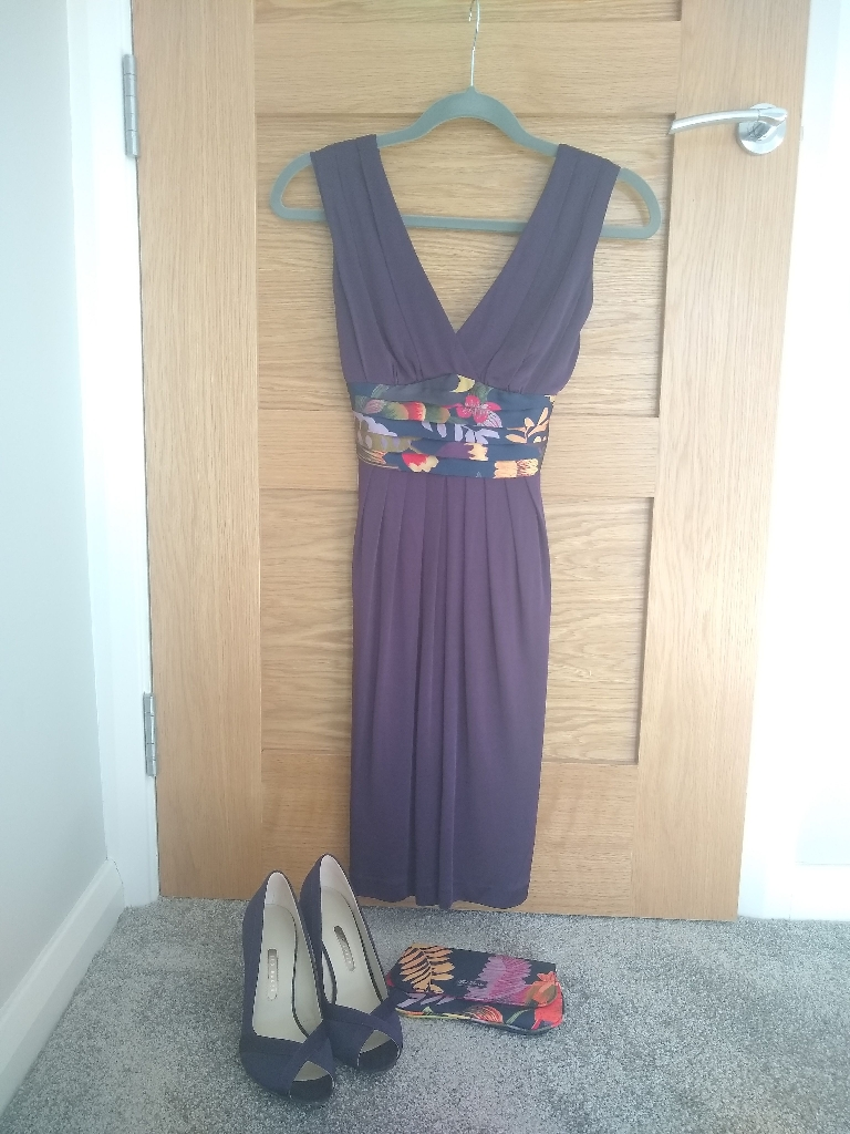 Ted Baker Dress, Shoes & Clutch