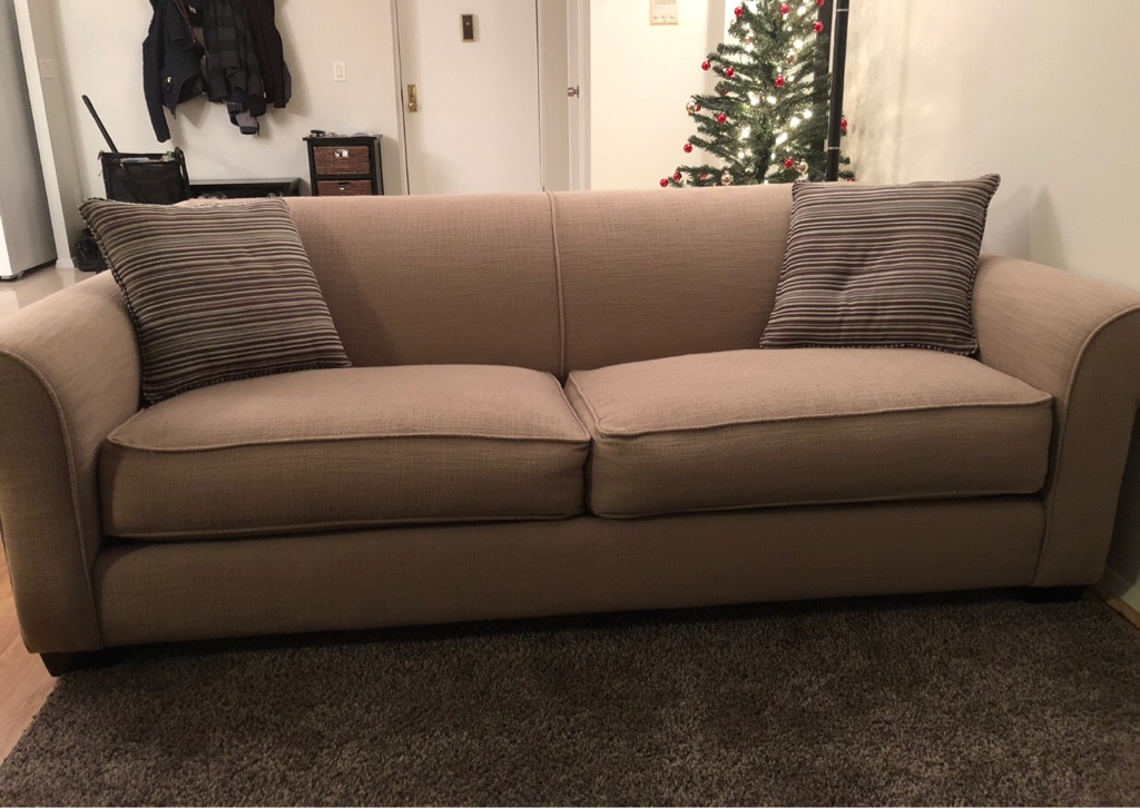 Fabric Couch Beige