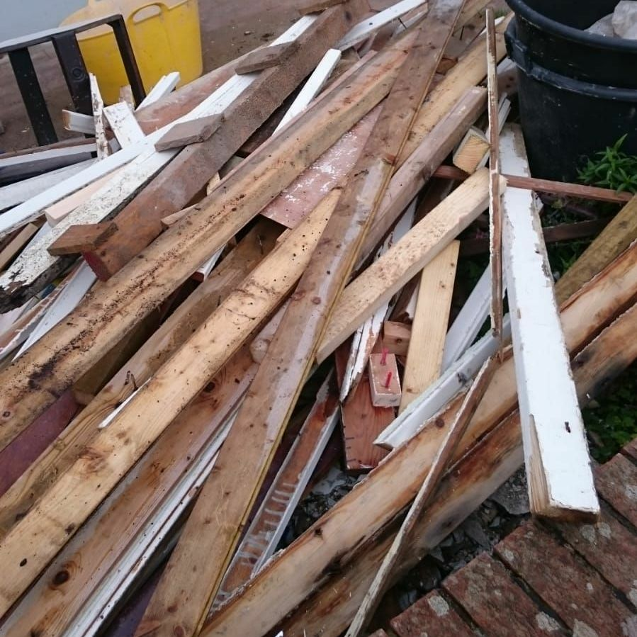 Scrap wood for fires, log burners etc