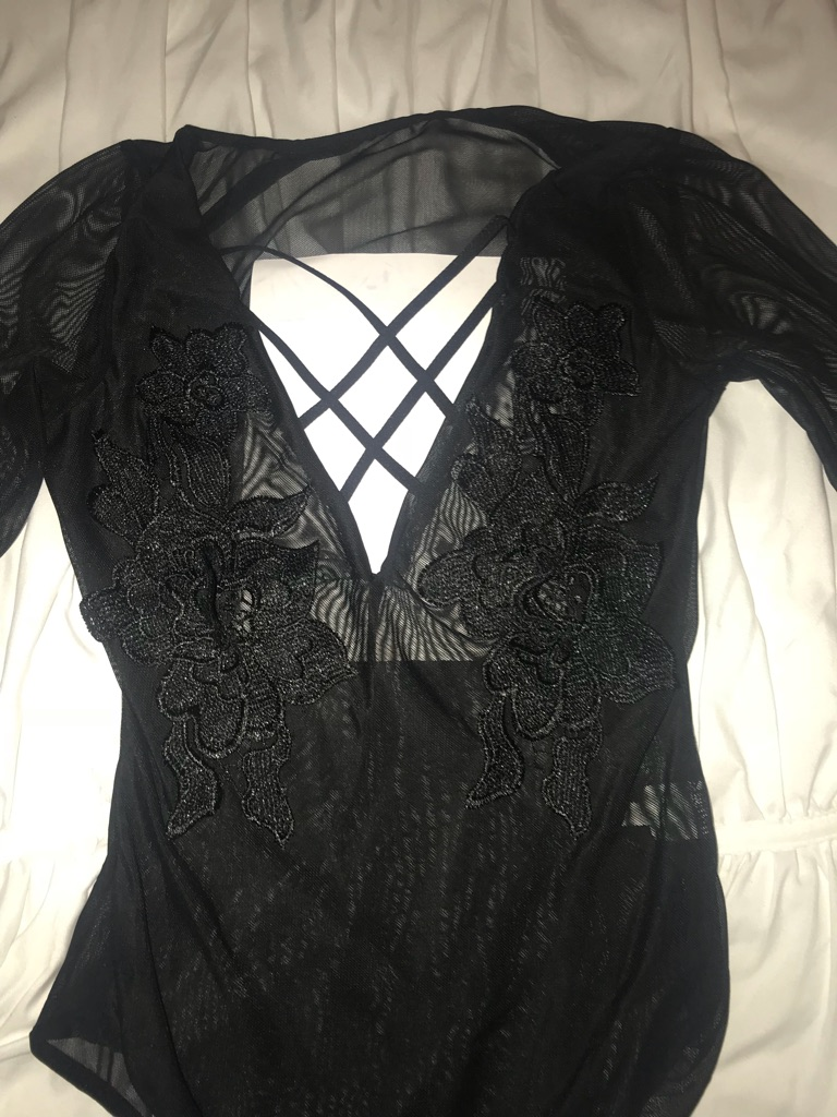 Sexy Mesh Black Body Suite 🥀
