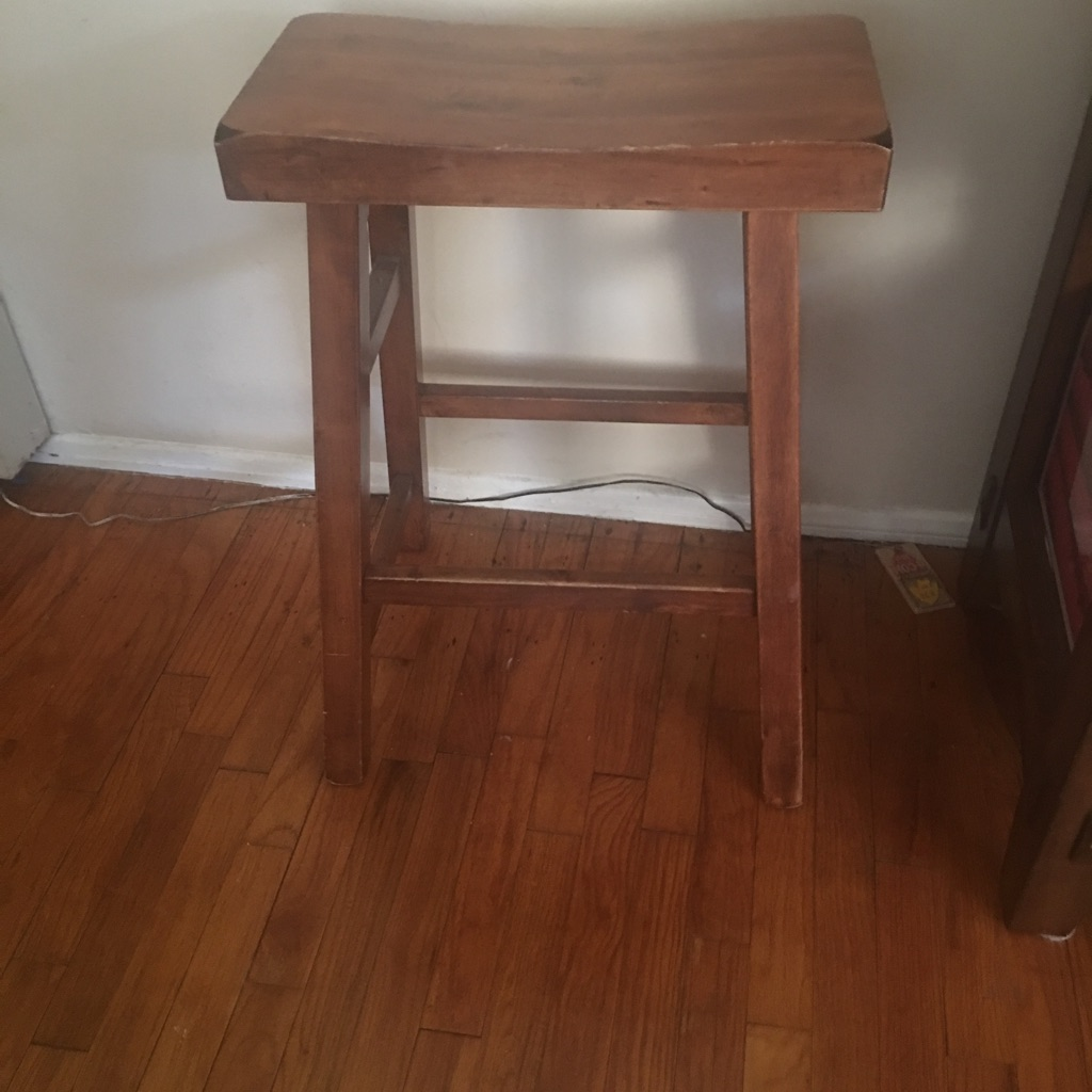 3 solid wood bar stools