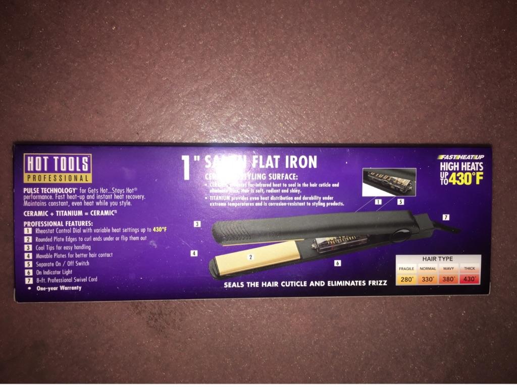 "Hot Tools 1""Flat Iron - Gold Ceramic Edition"