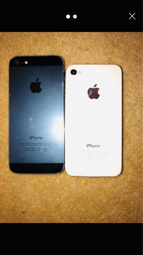 iPhone 5 and 4