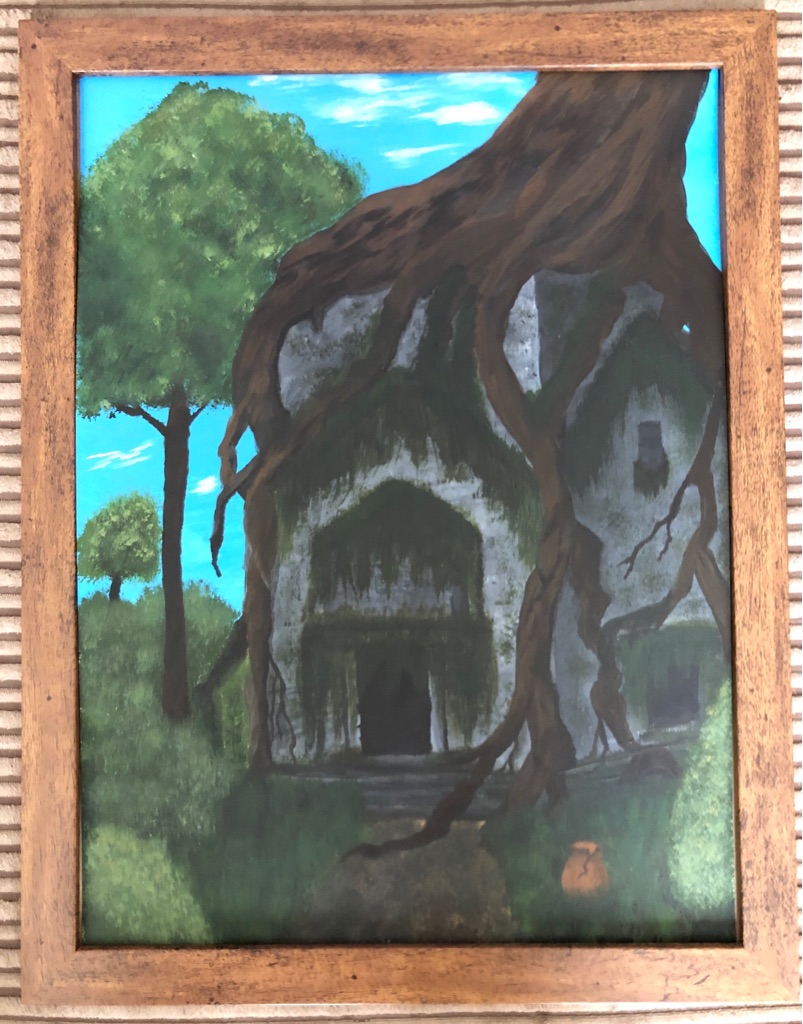 The Hidden Temple - Original Acrylic Artwork 45x35cm