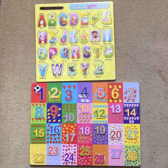 Wooden letters/numbers educational toys