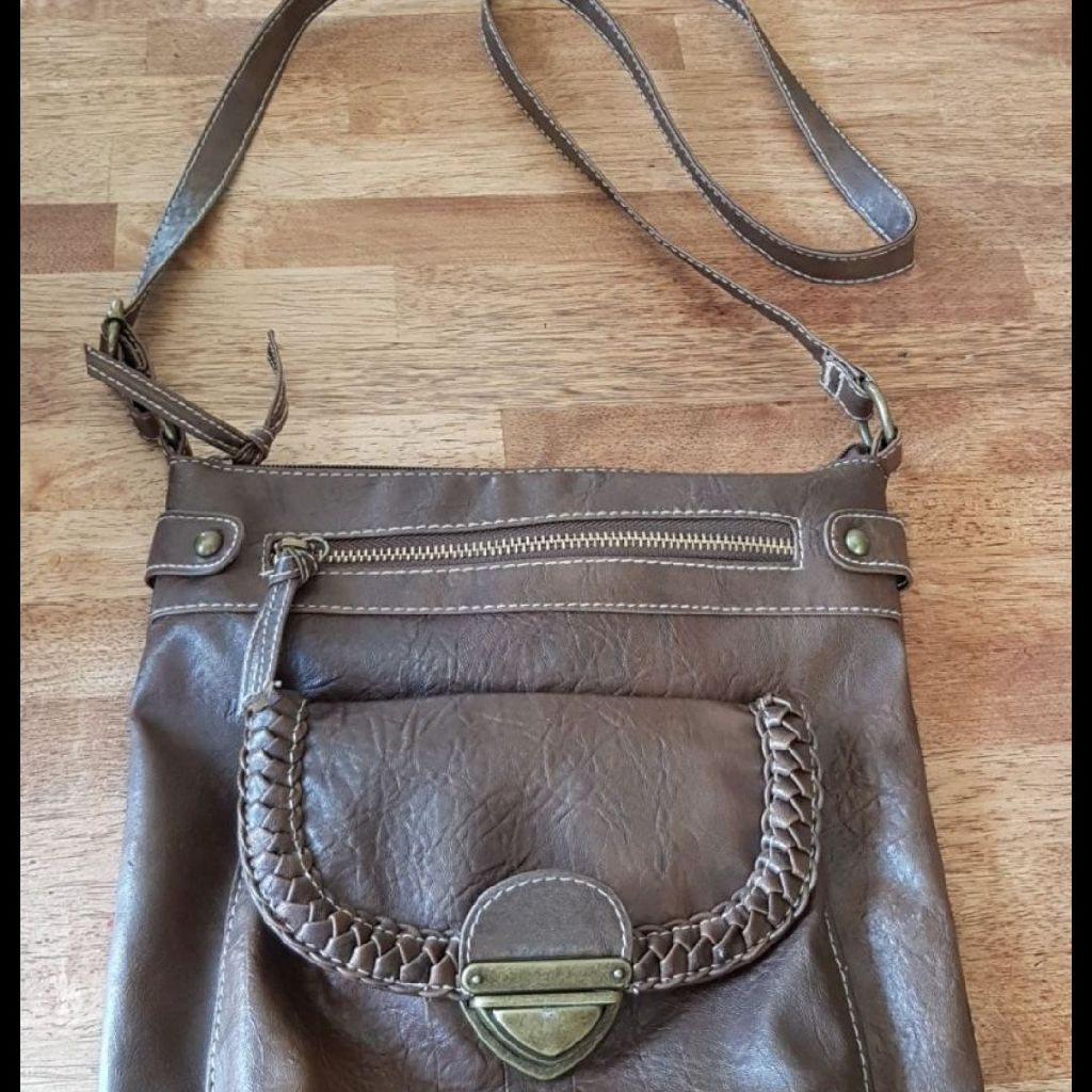 Lovely Soft Brown Cross Body Bag