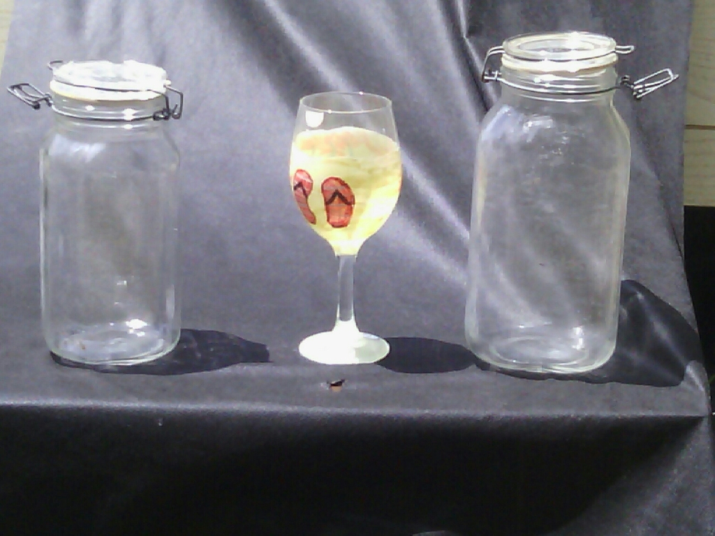 Glass Jars and Painted Glass