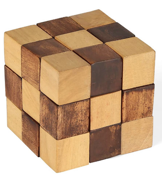 Snake cube puzzle game