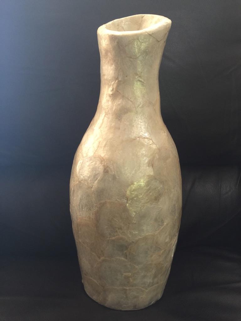 Abalone shell vase