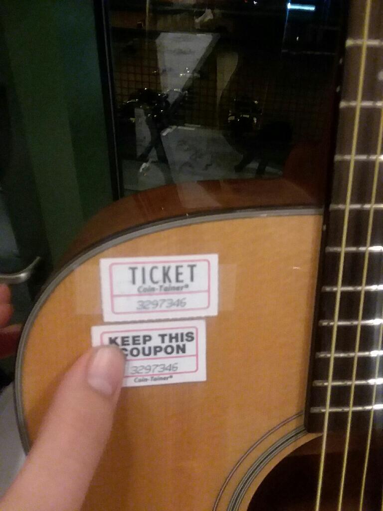 Autographed blake Shelton guitar