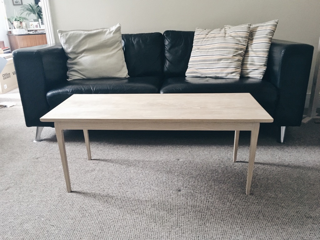 Solid wood ash designer coffee table. Made in Newcastle