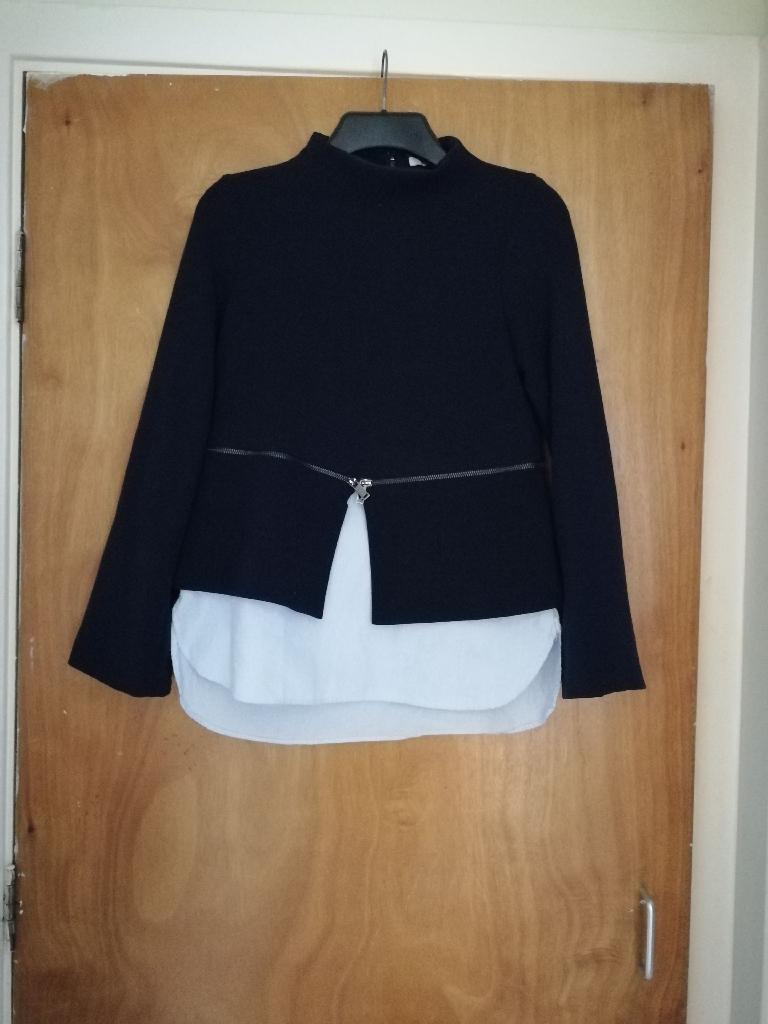 Zara xs jumper navy
