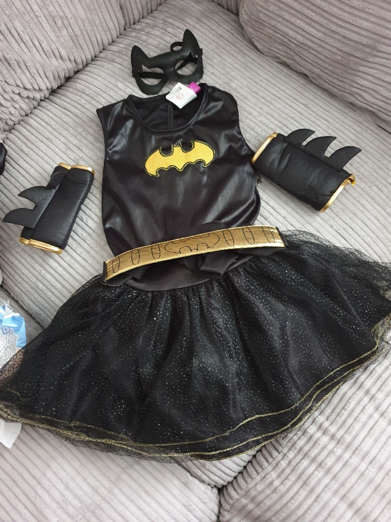 Kids bat girl costume