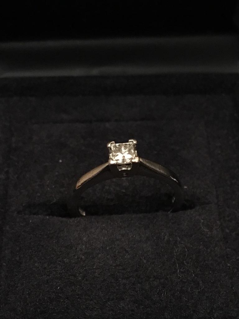 Platinum Diamond Ring Size J