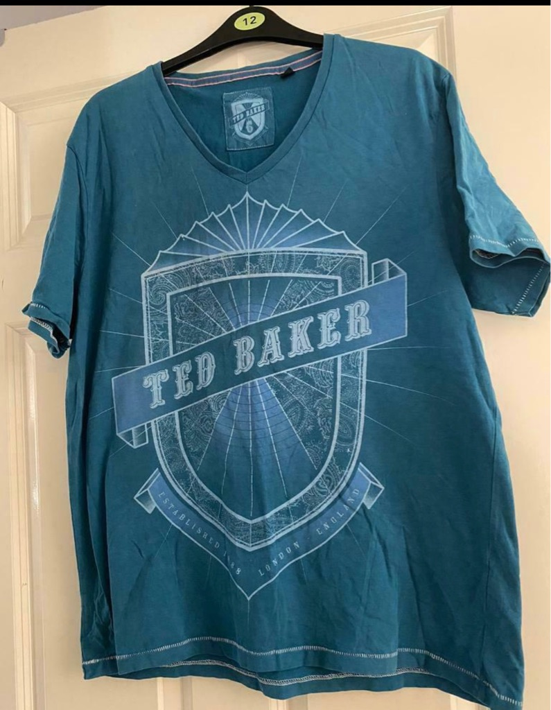 Men's Turquoise Ted Baker T-Shirt size Large