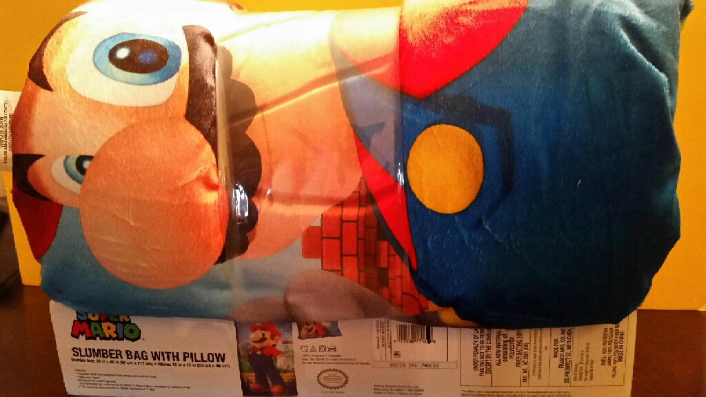Super Mario Slumber Bag with Pillow