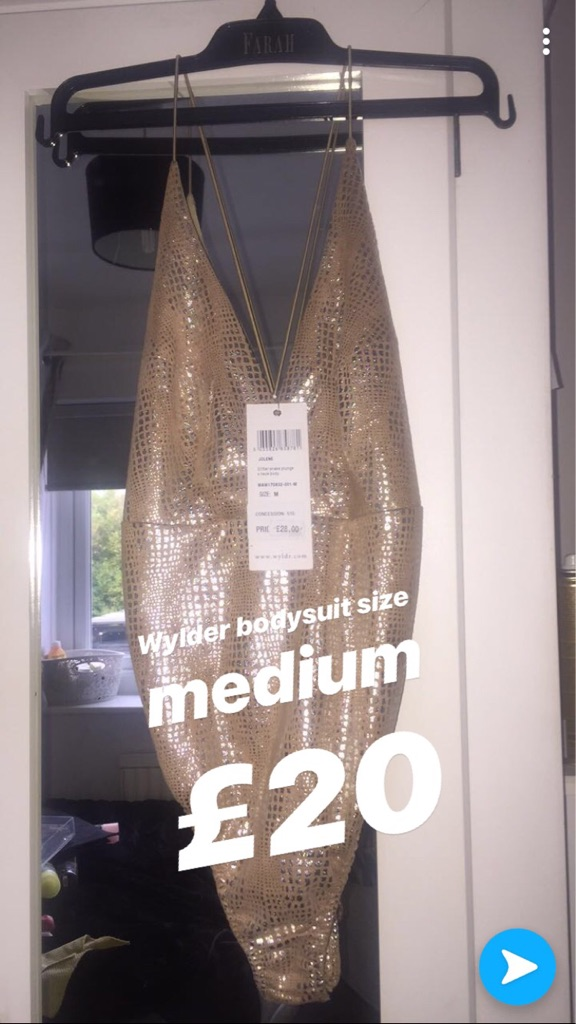 Metallic and nude bodysuit from wylder