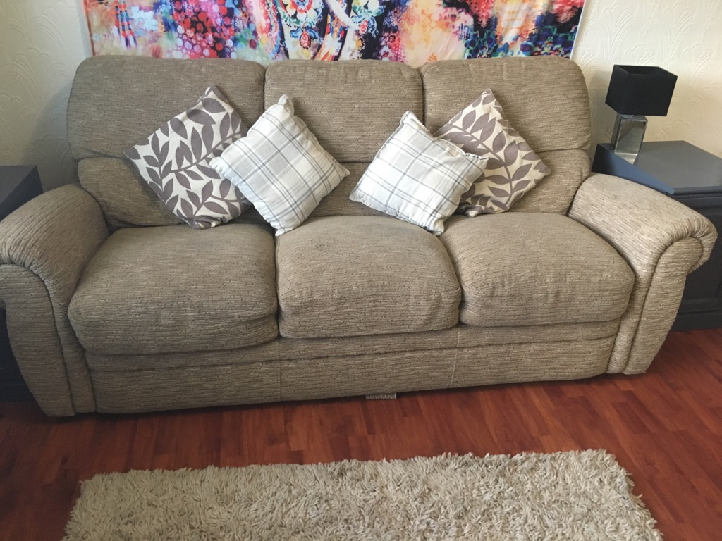 3 seater sofa AND 2 matching armchairs