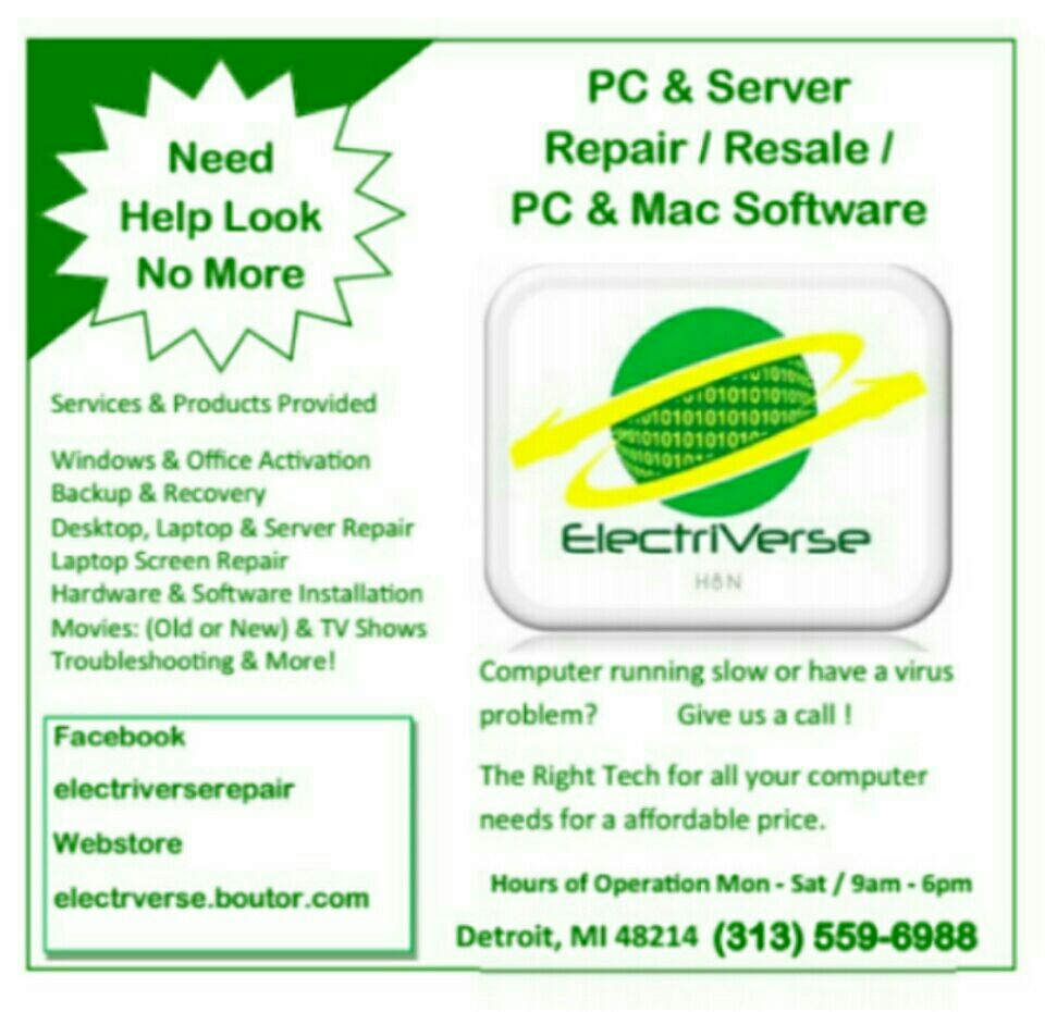 ElectriVerse Computer Repair Service