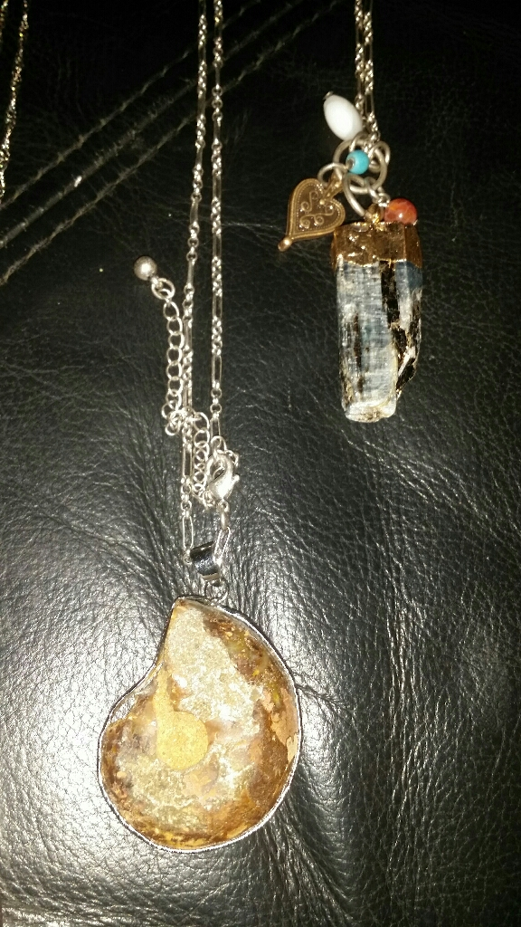Mineral stone chain and pendant