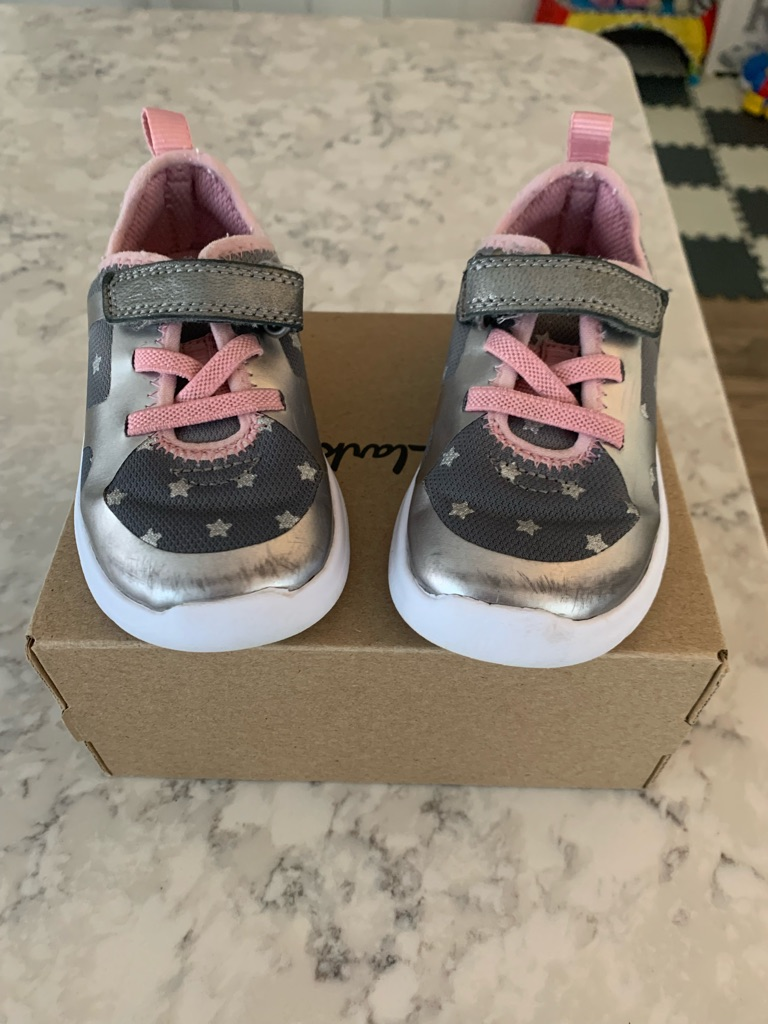 Girls toddler Clarks trainers