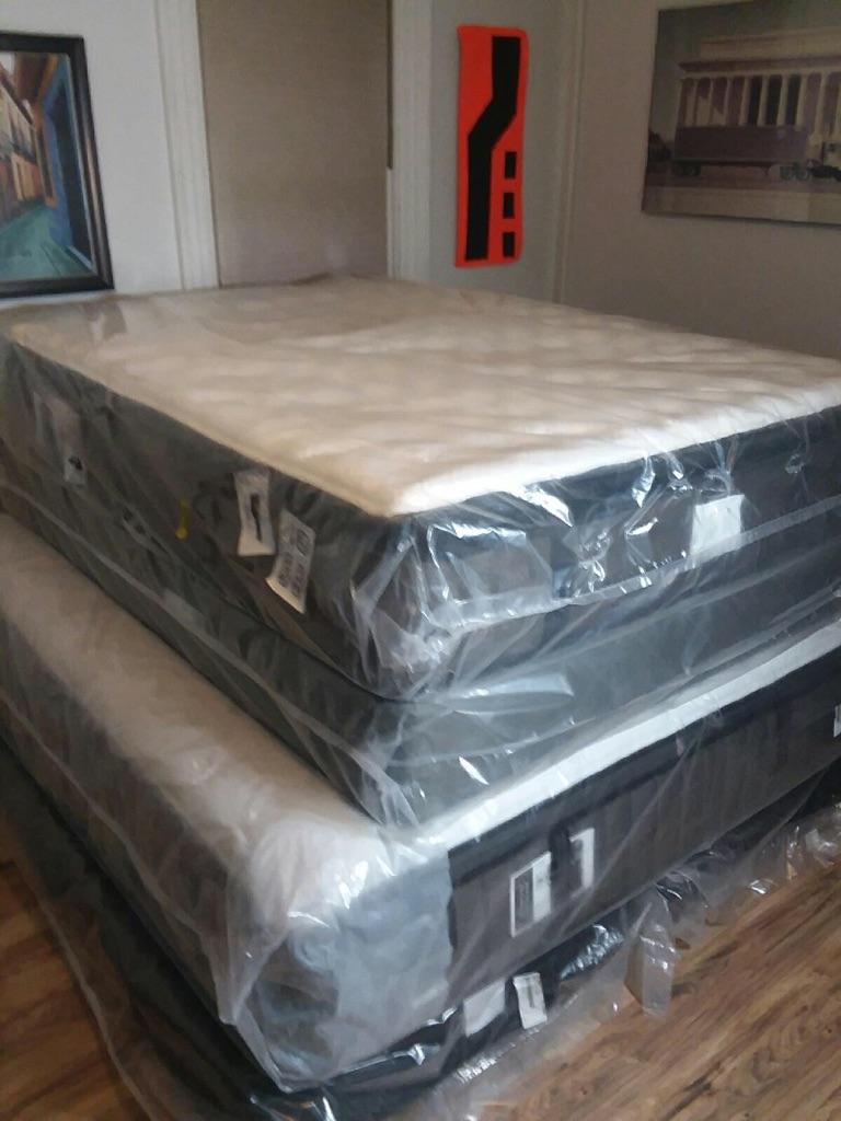 Brand New Stearns & Foster Queen Pillowtop Mattress Set
