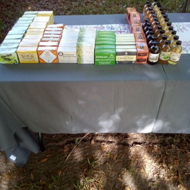 Soaps,body oils, perfume oils, cologne oils,Shea butter, incenses, raw coconut oil,