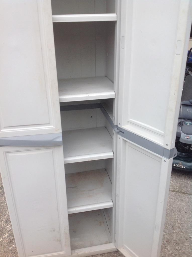 Garden/garage cabinet.