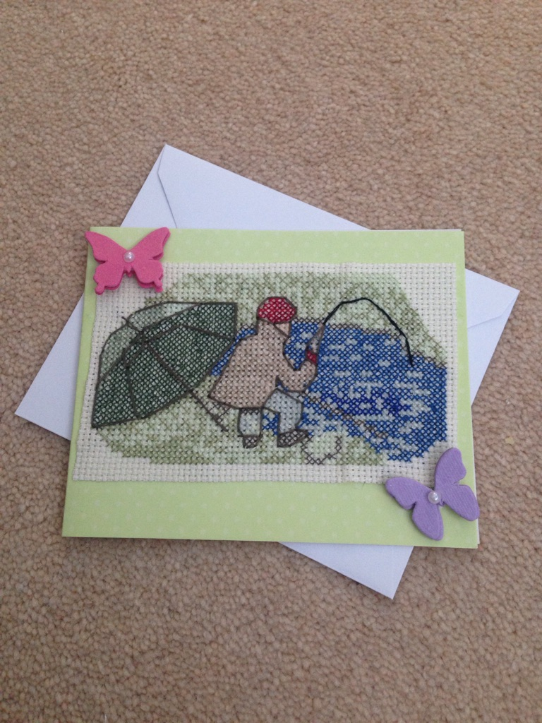 Handmade Card - cross-stitch